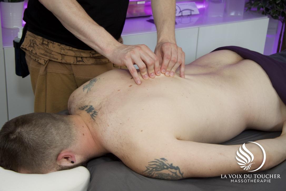 La voix du toucher - massage laval - étirements myofascial